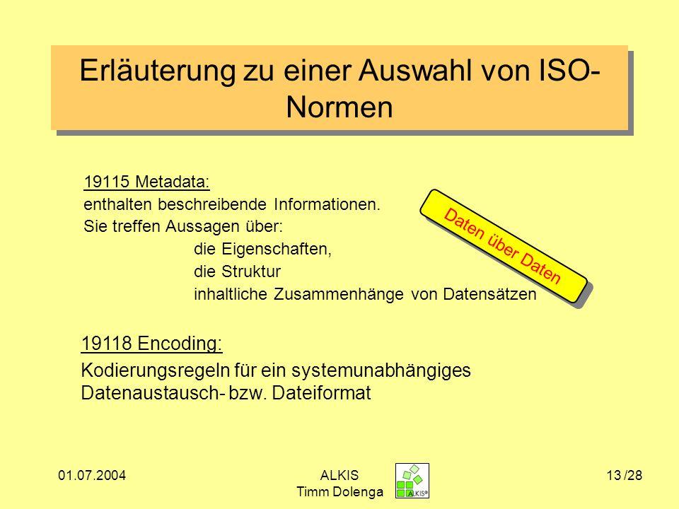 Erläuterung zu einer Auswahl von ISO-Normen
