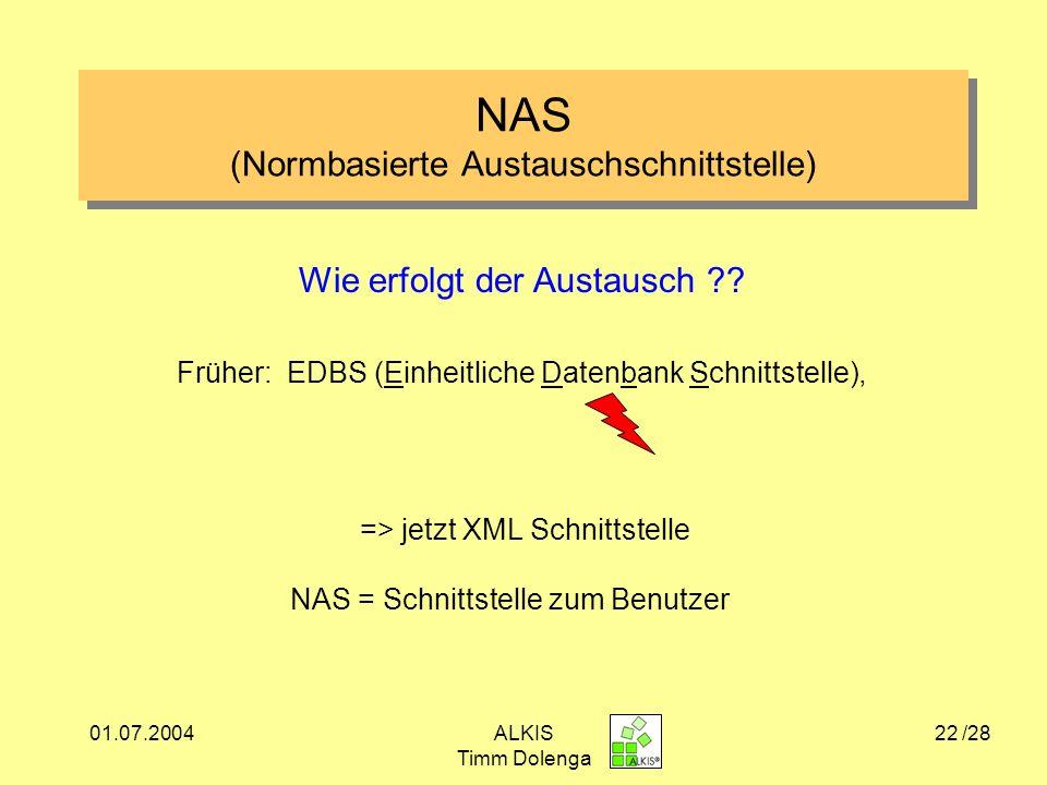 NAS (Normbasierte Austauschschnittstelle)