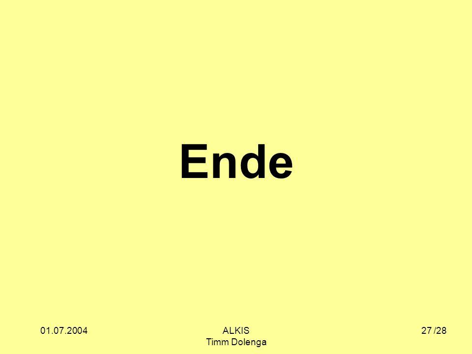 Ende 01.07.2004 ALKIS Timm Dolenga /28