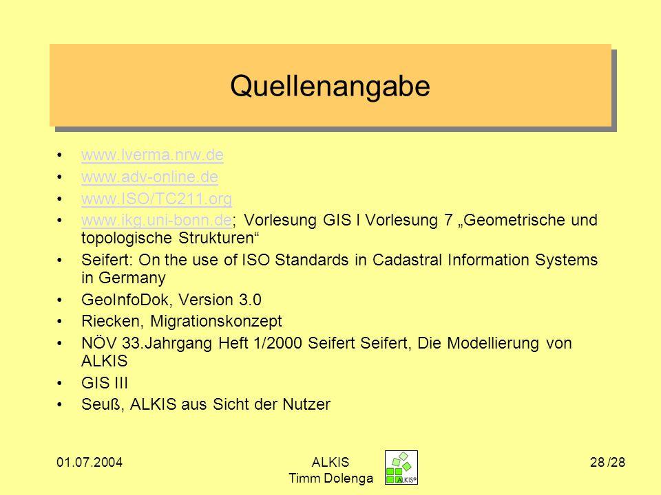 Quellenangabe www.lverma.nrw.de www.adv-online.de www.ISO/TC211.org