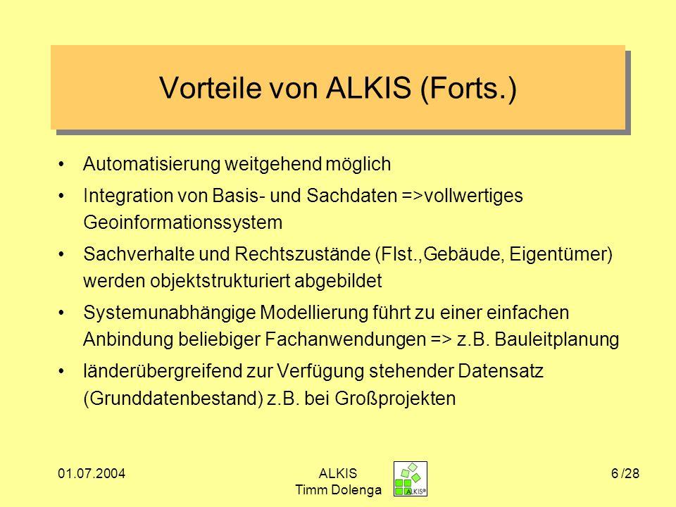 Vorteile von ALKIS (Forts.)