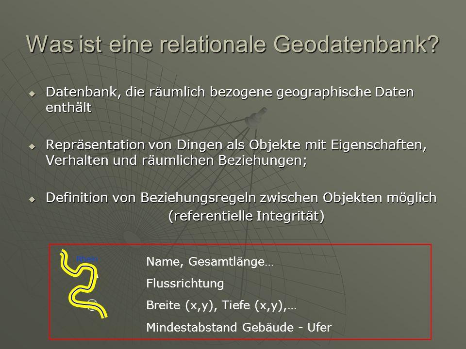 Was ist eine relationale Geodatenbank