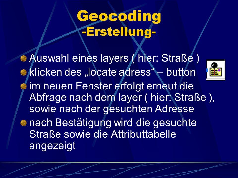 Geocoding -Erstellung-