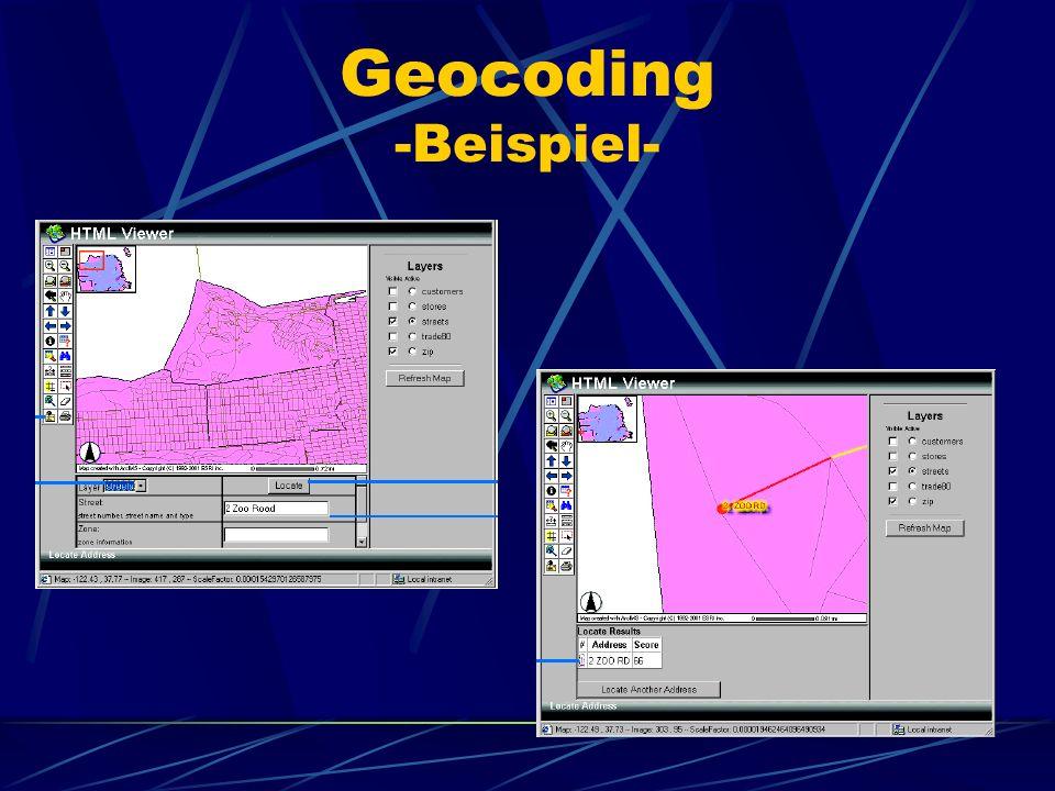 Geocoding -Beispiel-