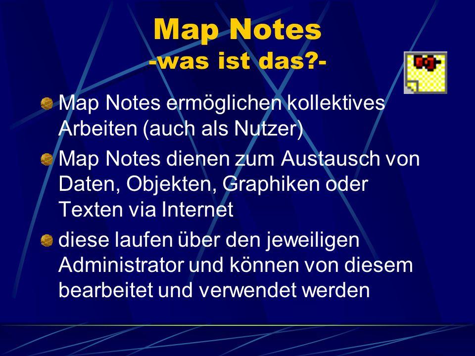 Map Notes -was ist das - Map Notes ermöglichen kollektives Arbeiten (auch als Nutzer)