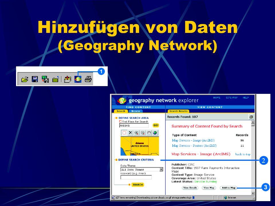 Hinzufügen von Daten (Geography Network)
