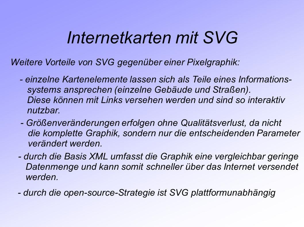 Internetkarten mit SVG