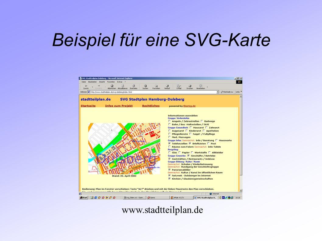 Beispiel für eine SVG-Karte