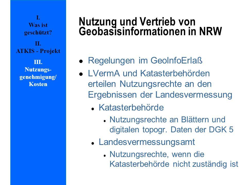 Nutzung und Vertrieb von Geobasisinformationen in NRW