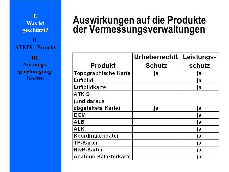 Auswirkungen auf die Produkte der Vermessungsverwaltungen