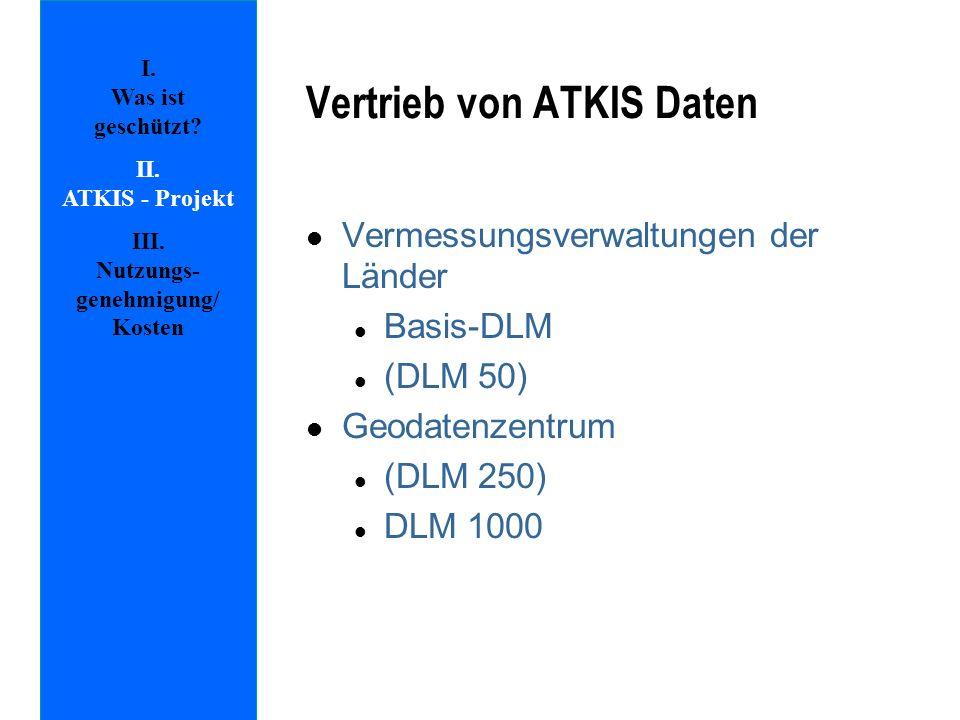 Vertrieb von ATKIS Daten