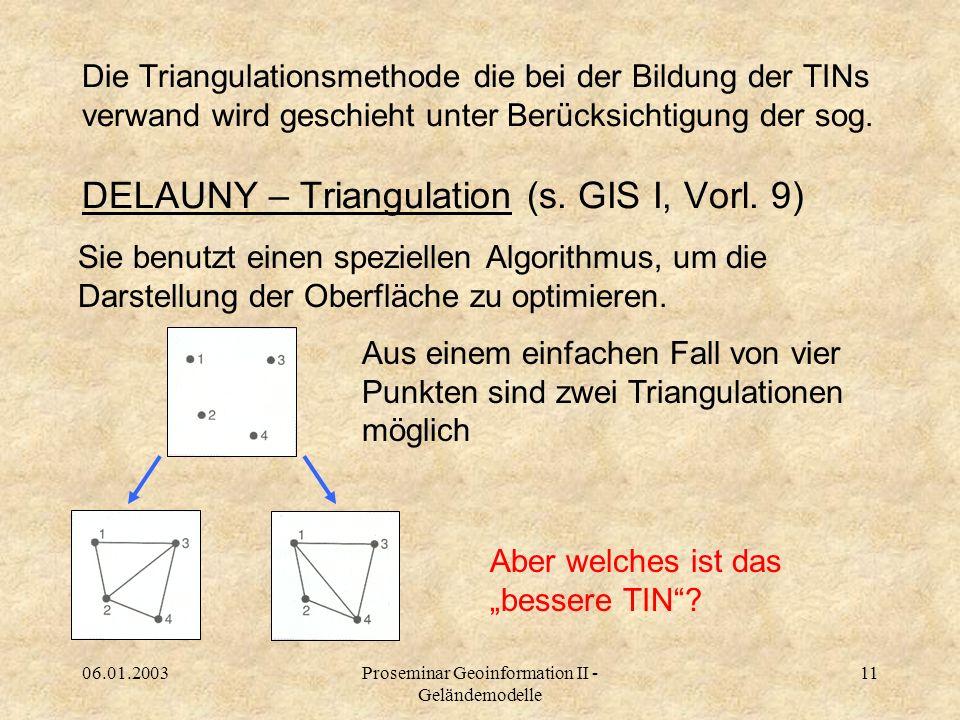 Proseminar Geoinformation II - Geländemodelle