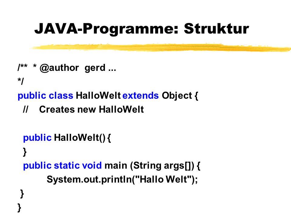 JAVA-Programme: Struktur