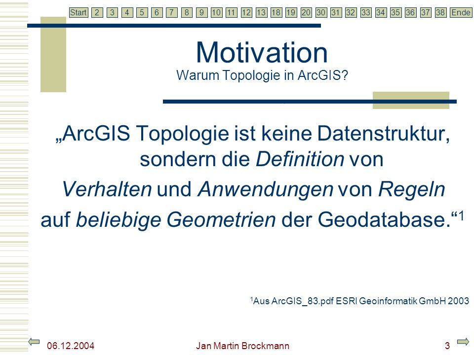 Motivation Warum Topologie in ArcGIS