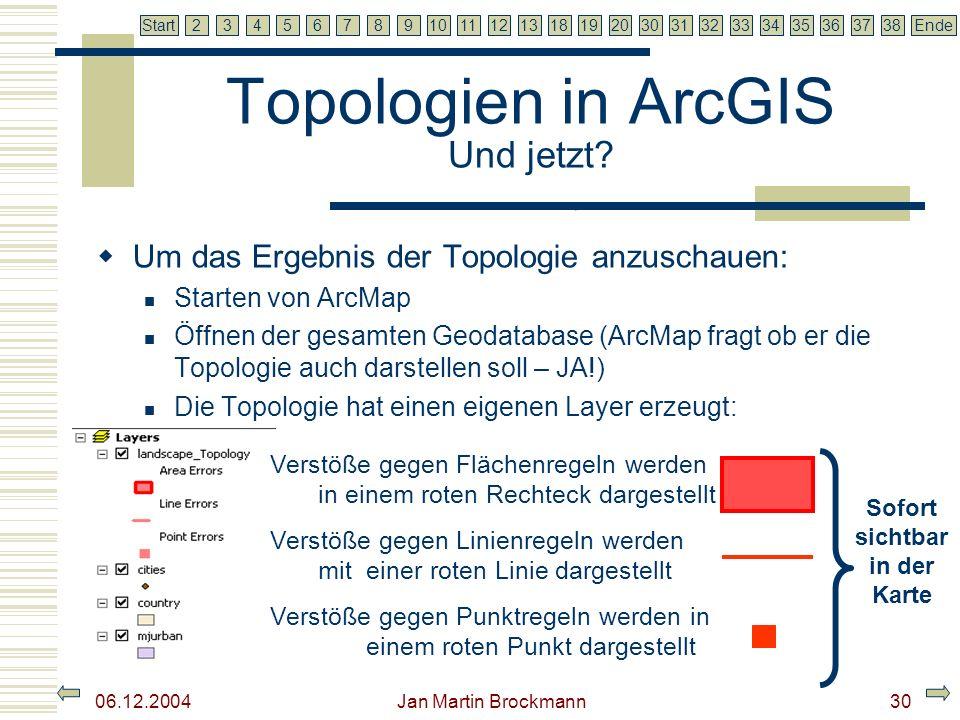Topologien in ArcGIS Und jetzt