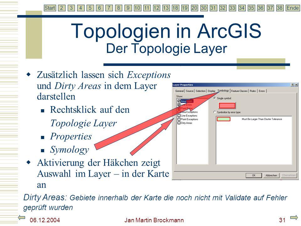 Topologien in ArcGIS Der Topologie Layer