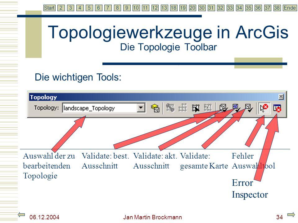 Topologiewerkzeuge in ArcGis Die Topologie Toolbar