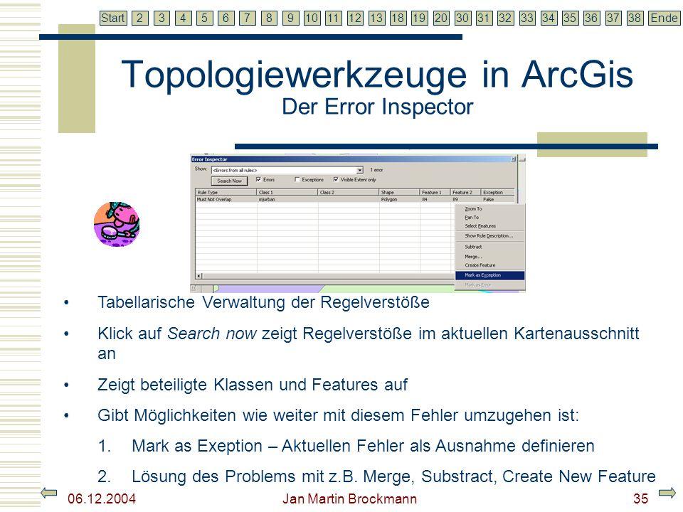 Topologiewerkzeuge in ArcGis Der Error Inspector