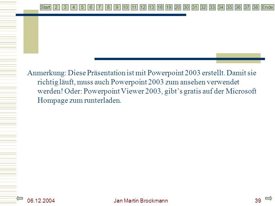 Anmerkung: Diese Präsentation ist mit Powerpoint 2003 erstellt