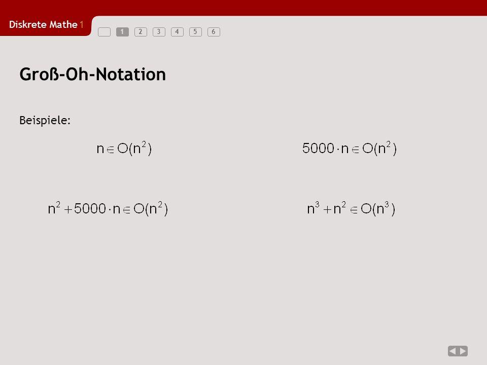 1 Groß-Oh-Notation Beispiele: