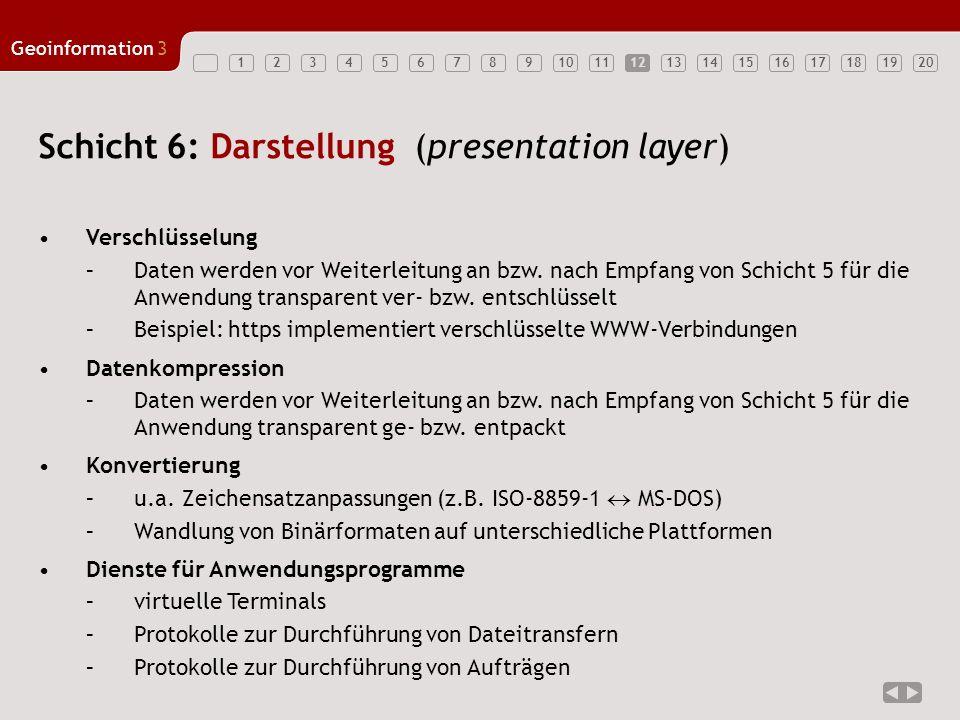 Schicht 6: Darstellung (presentation layer)