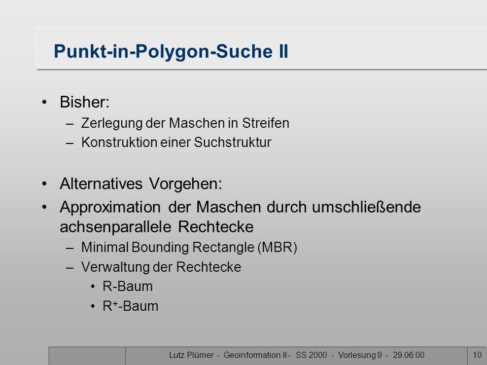 Punkt-in-Polygon-Suche II