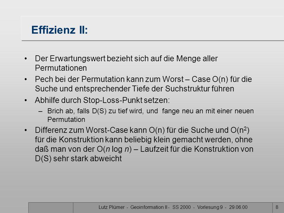 Lutz Plümer - Geoinformation II - SS 2000 - Vorlesung 9 - 29.06.00