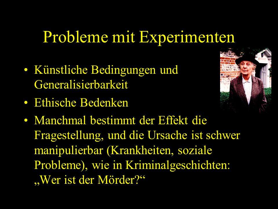 Probleme mit Experimenten