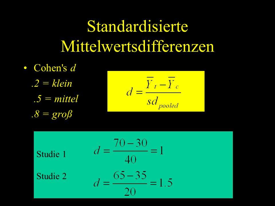 Standardisierte Mittelwertsdifferenzen