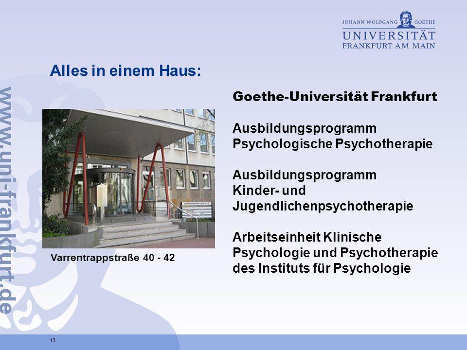 Alles in einem Haus: Goethe-Universität Frankfurt