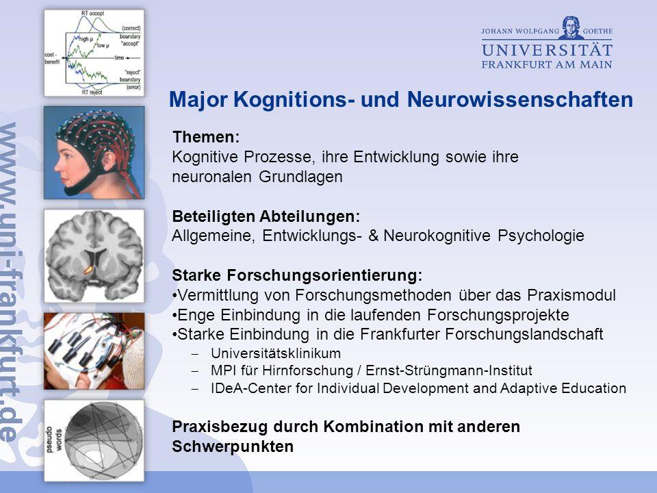Major Kognitions- und Neurowissenschaften
