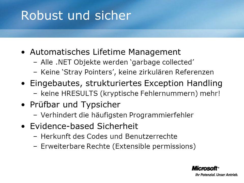 Robust und sicher Automatisches Lifetime Management