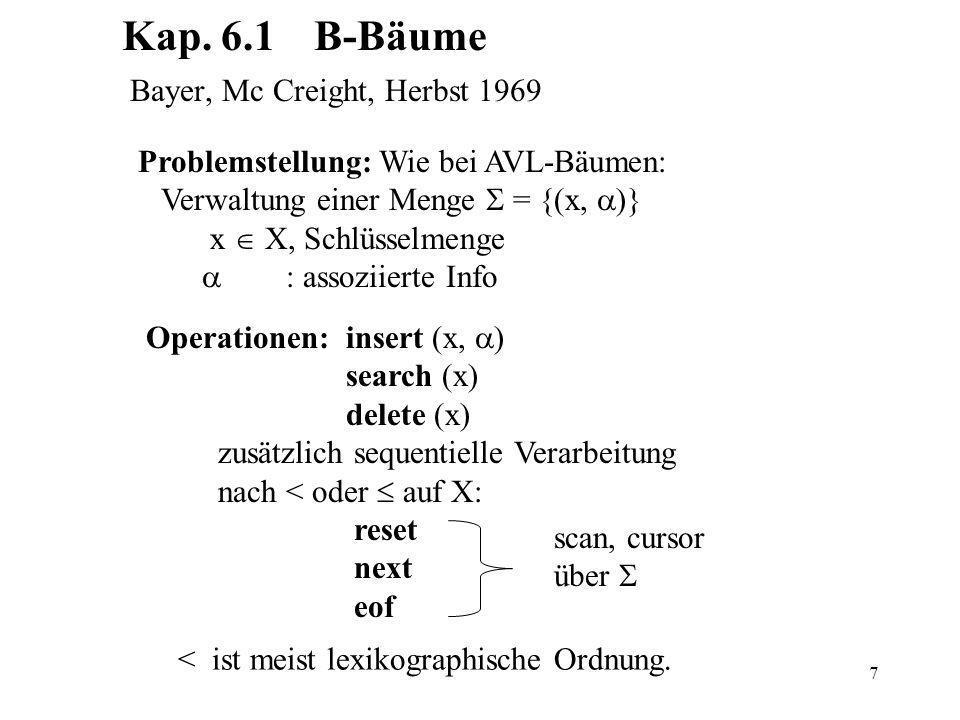 Kap. 6.1 B-Bäume Bayer, Mc Creight, Herbst 1969