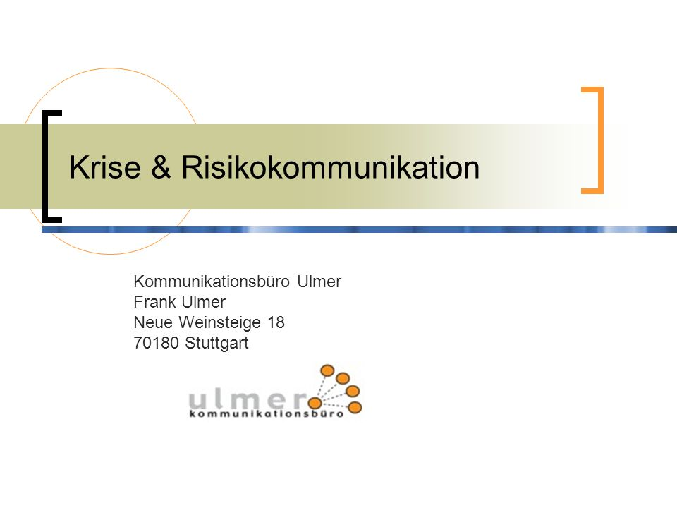 Krise & Risikokommunikation