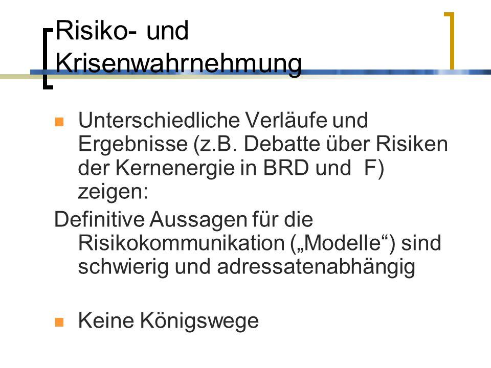 Risiko- und Krisenwahrnehmung