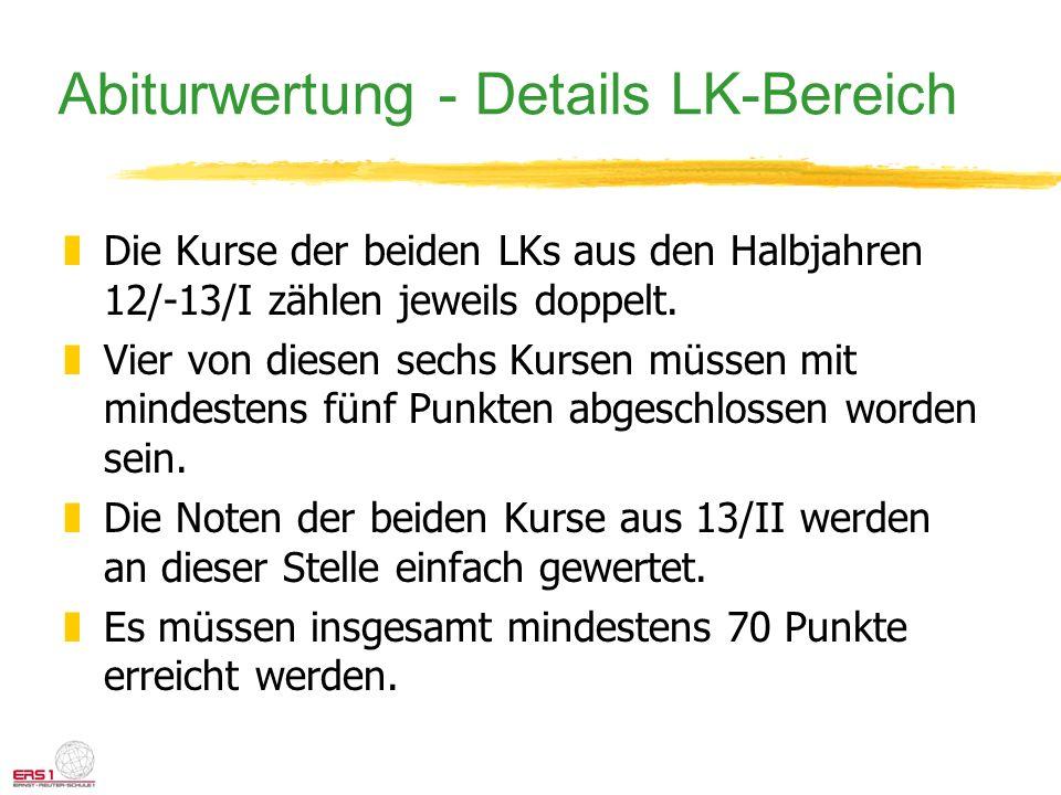 Abiturwertung - Details LK-Bereich