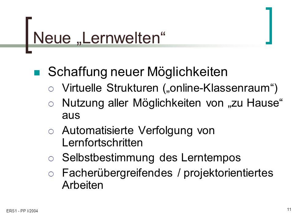 """Neue """"Lernwelten Schaffung neuer Möglichkeiten"""