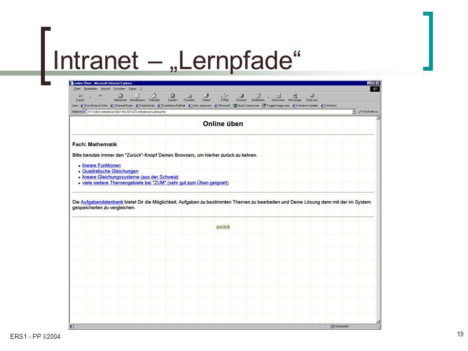 "Intranet – ""Lernpfade"