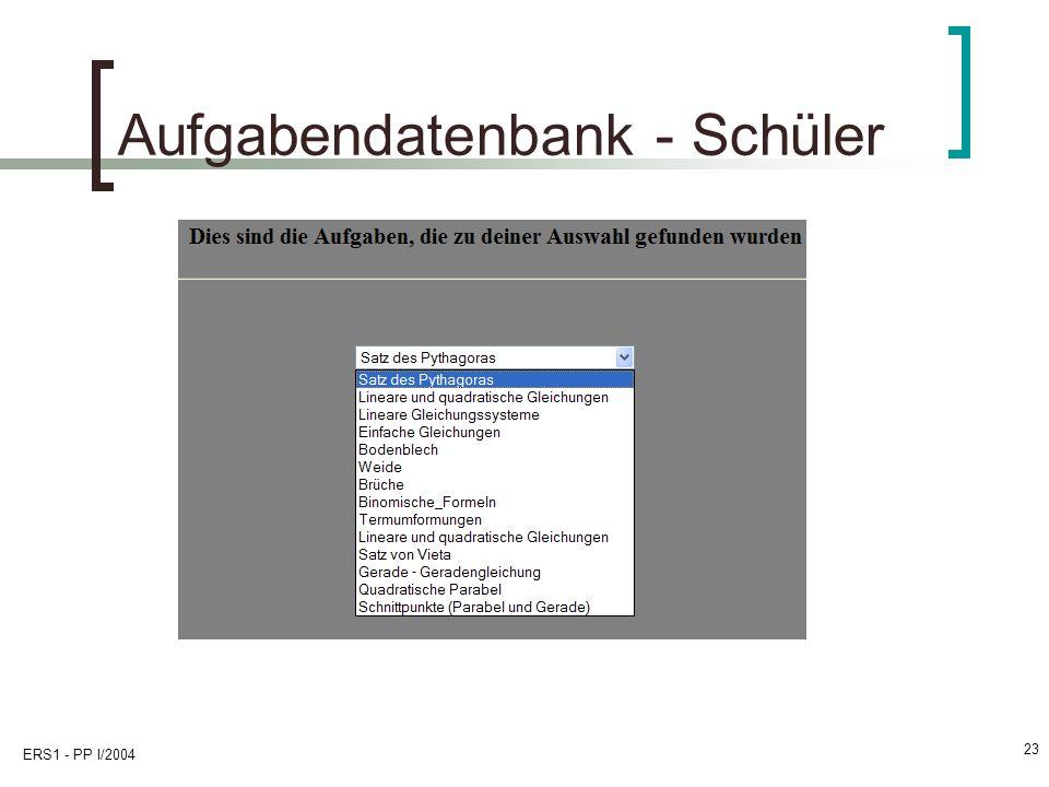Aufgabendatenbank - Schüler