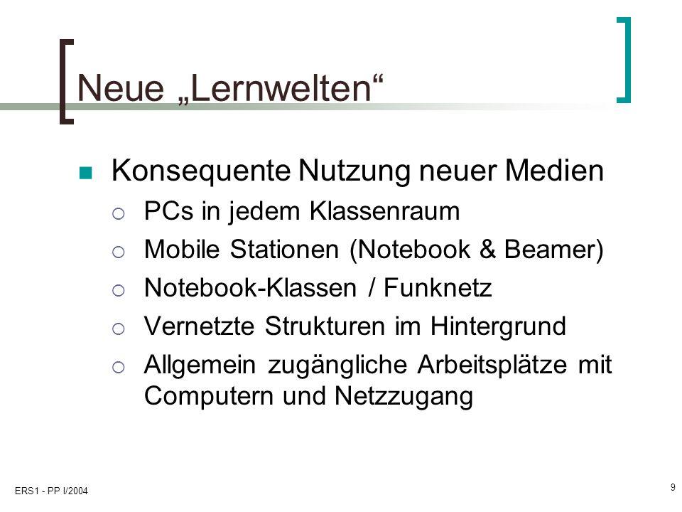 """Neue """"Lernwelten Konsequente Nutzung neuer Medien"""