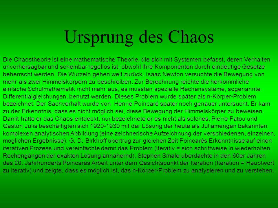 Ursprung des Chaos