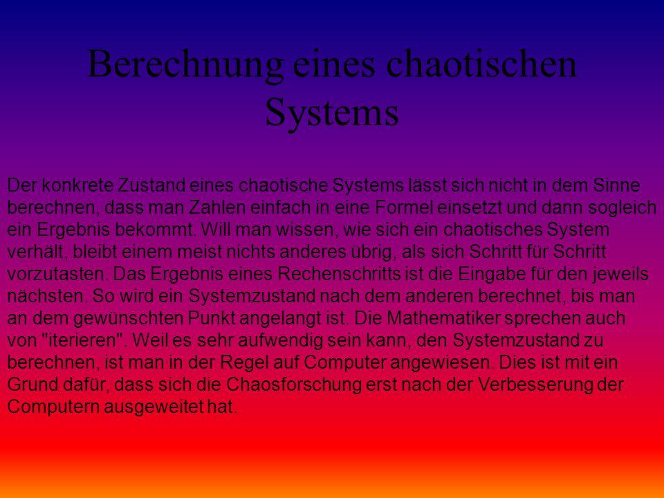 Berechnung eines chaotischen Systems