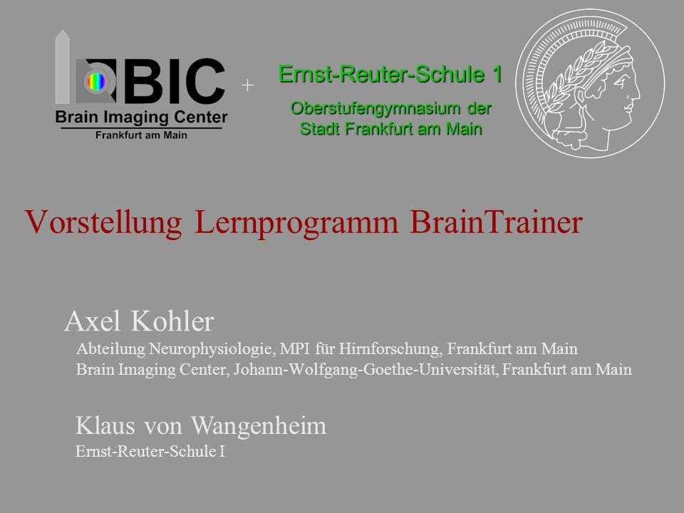 Vorstellung Lernprogramm BrainTrainer