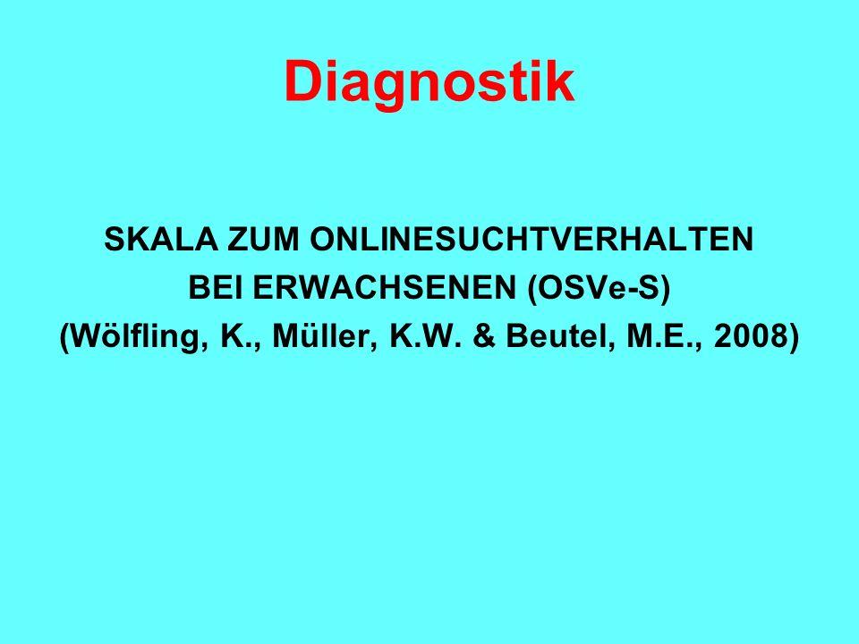 Diagnostik SKALA ZUM ONLINESUCHTVERHALTEN BEI ERWACHSENEN (OSVe-S)