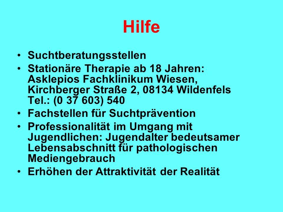 Hilfe Suchtberatungsstellen