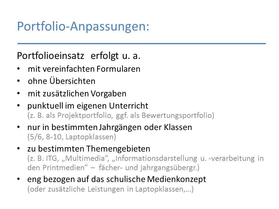 Portfolio-Anpassungen: