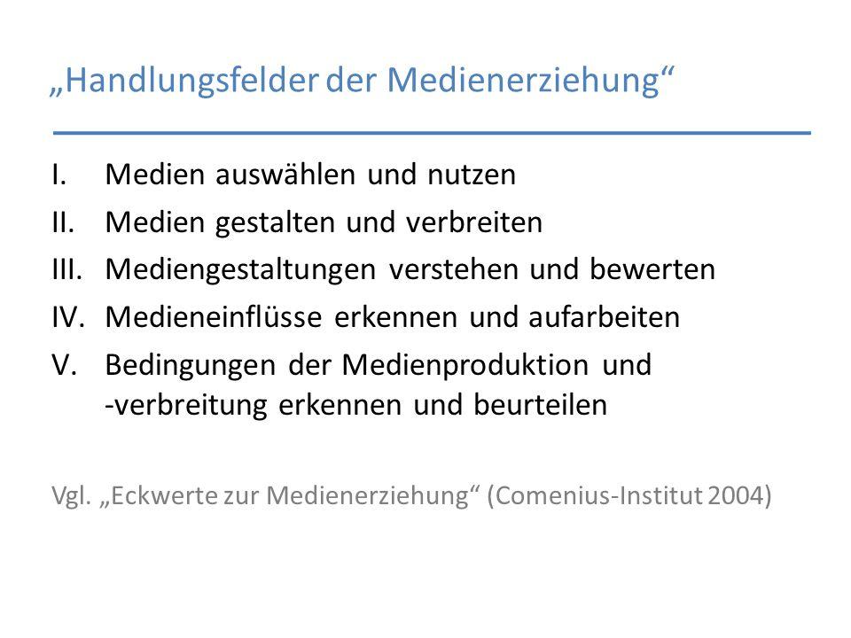 """""""Handlungsfelder der Medienerziehung"""
