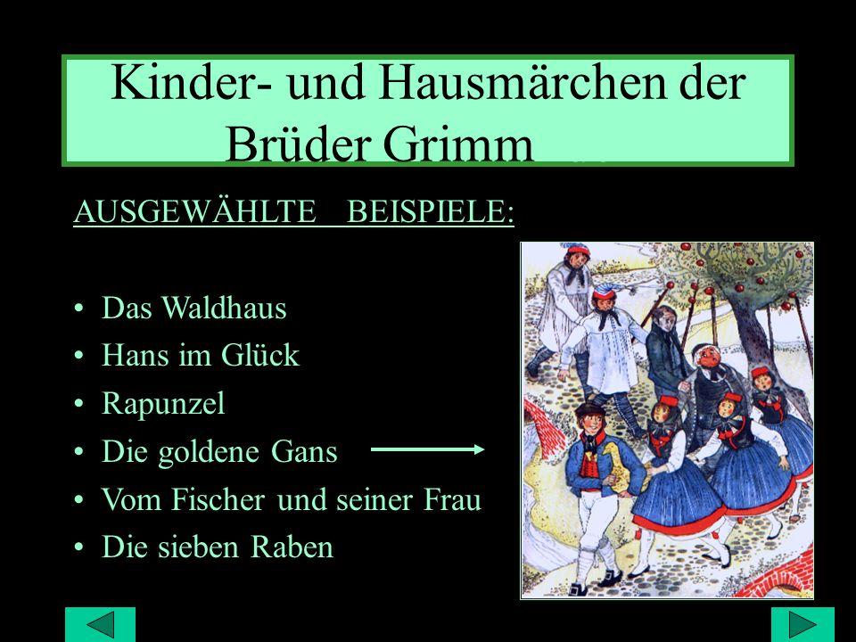 Kinder- und Hausmärchen der Brüder Grimm- der
