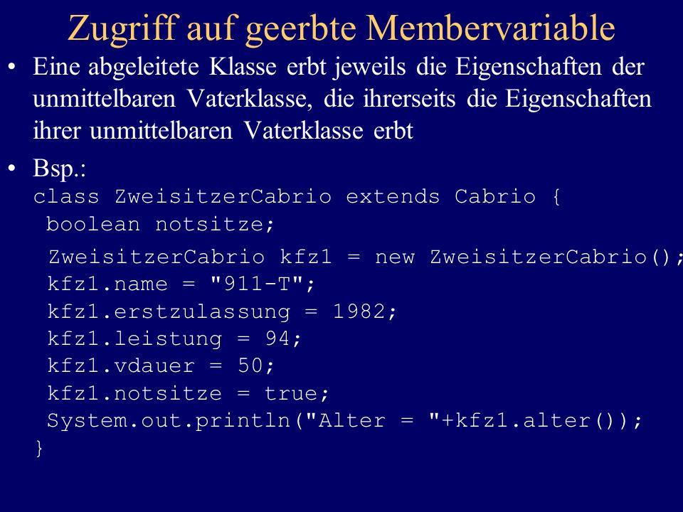 Zugriff auf geerbte Membervariable
