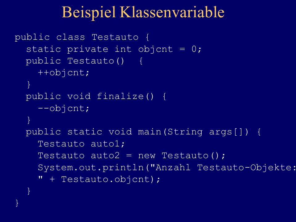 Beispiel Klassenvariable